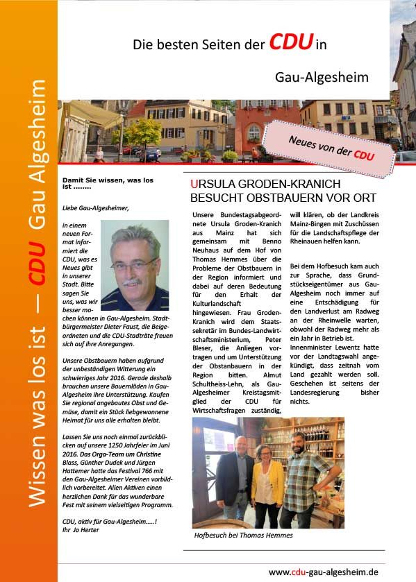 Die besten Seiten der CDU Ausgabe 1