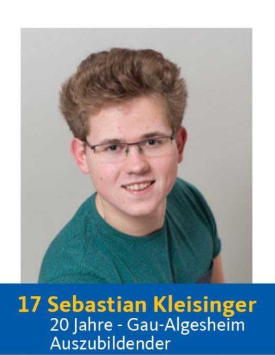 17 Sebastian Kleisinger