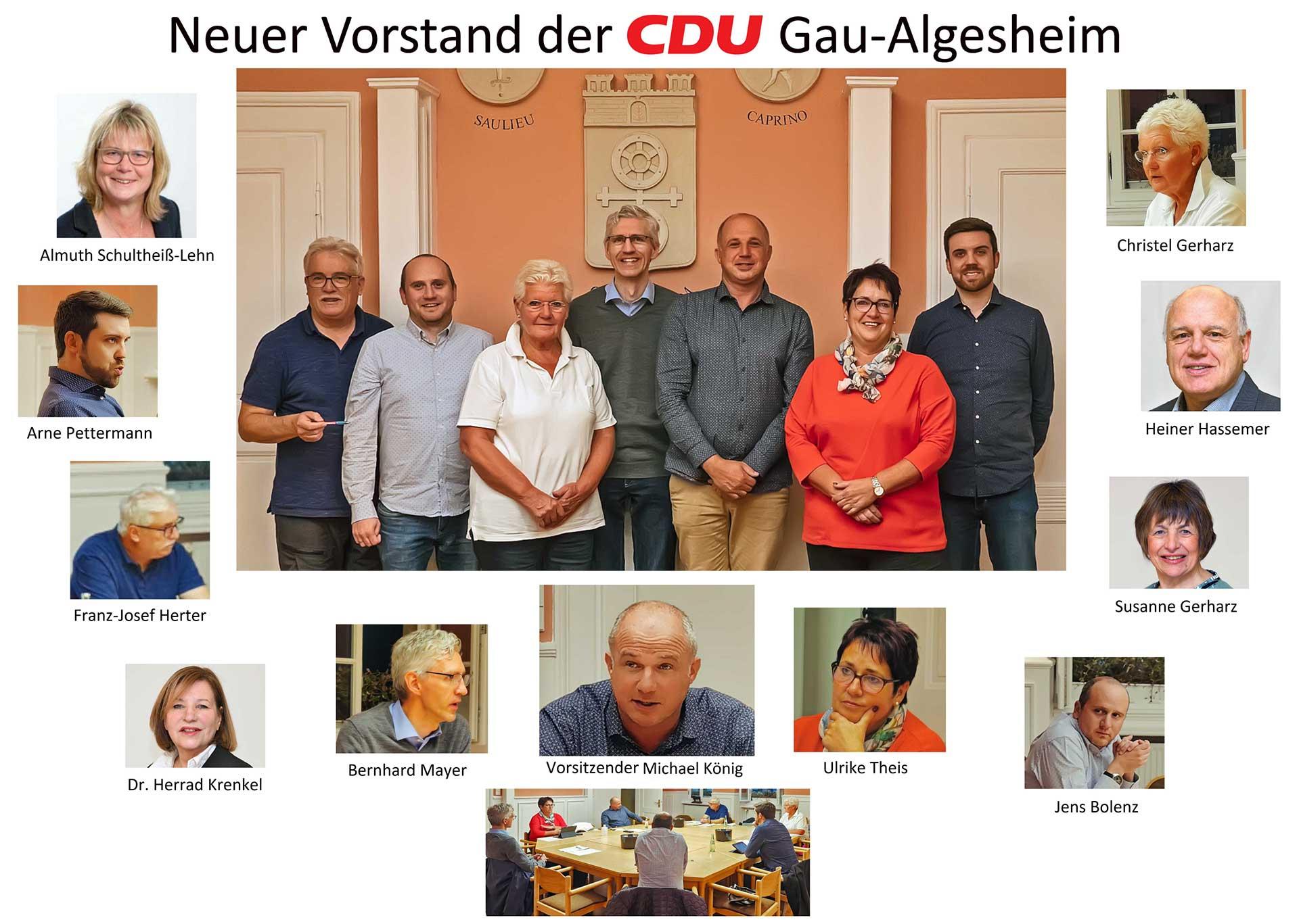 Neuer Vorstand im CDU-Team Gau-Algesheim