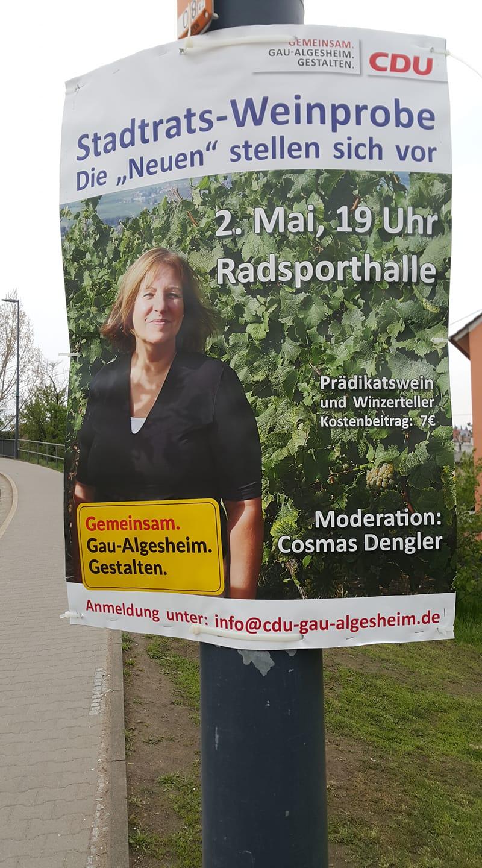 CDU Weinprobe in der Radsporthalle